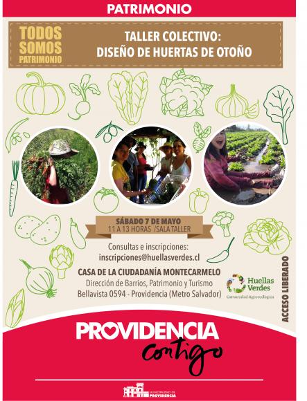 afiche taller colectivo huertas de otono montecarmelo mayo 2016