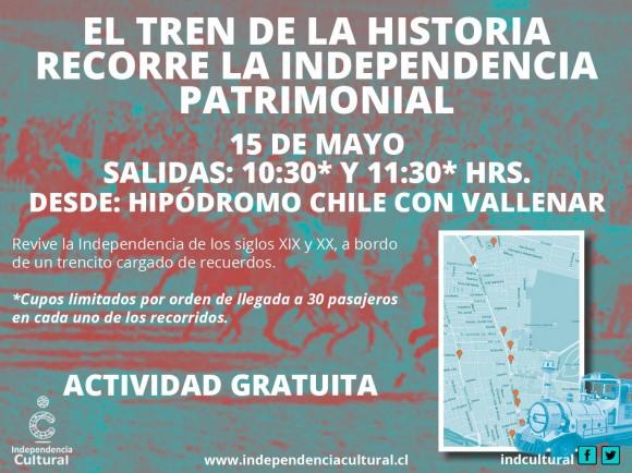 afiche tren de la historia independencia mayo 2016