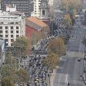 marcha taxistas alameda santiago