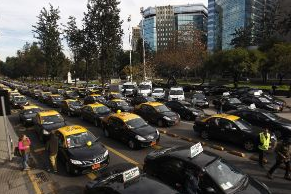 paro taxis alameda santiago