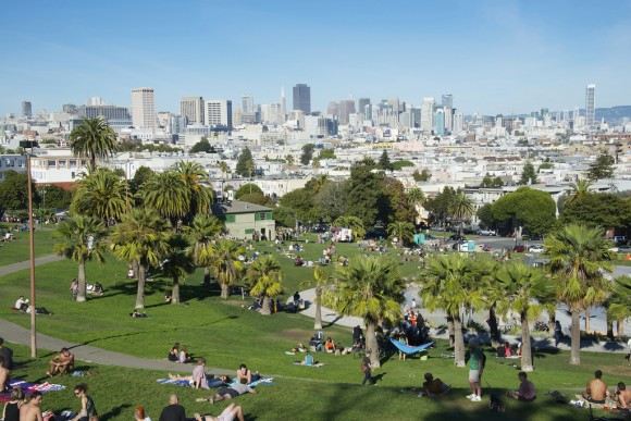 Mission Dolores Park en San Francisco, EE.UU. © basair, vía Flickr.