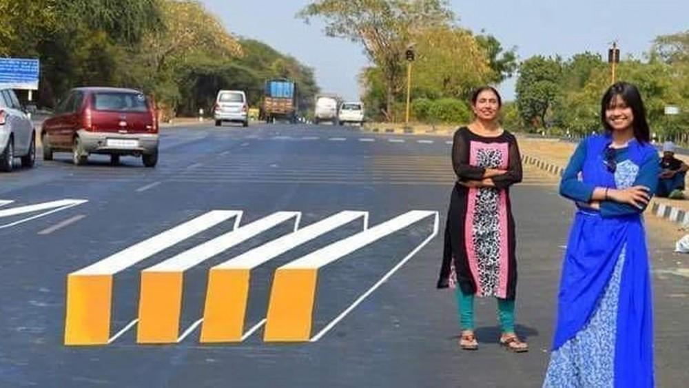 india cruce peatonal paso de cebra 3d