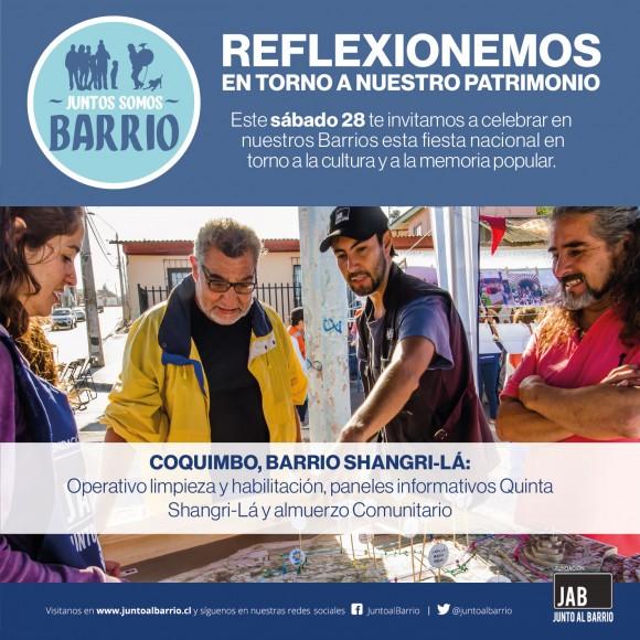 Junto al Barrio Dia del Patrimonio 2016 Coquimbo
