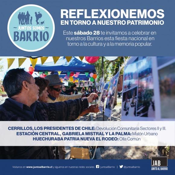 Junto al Barrio Dia del Patrimonio 2016 Santiago