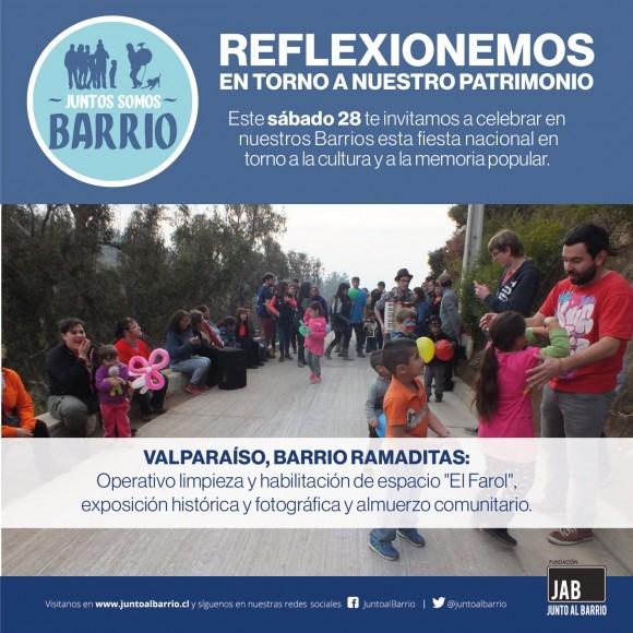 Junto al Barrio Dia del Patrimonio 2016 Valparaiso