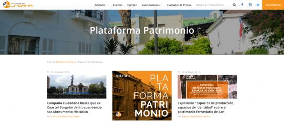 Plataforma Patrimonio