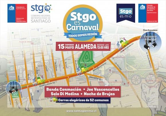 Recorrido Santiago es Carnaval 15 de mayo