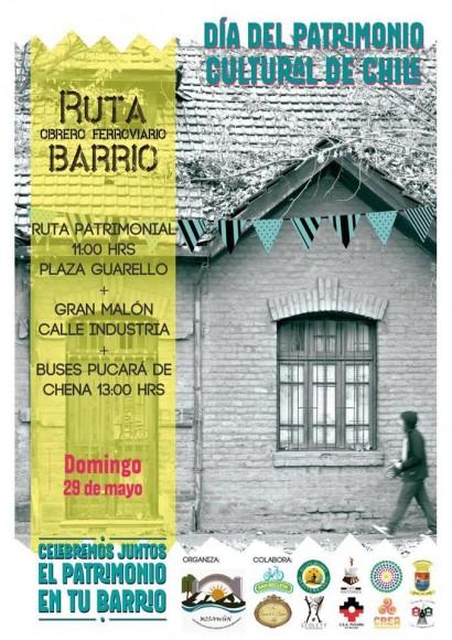 Ruta Patrimonial Obrero Ferroviaria San Bernardo