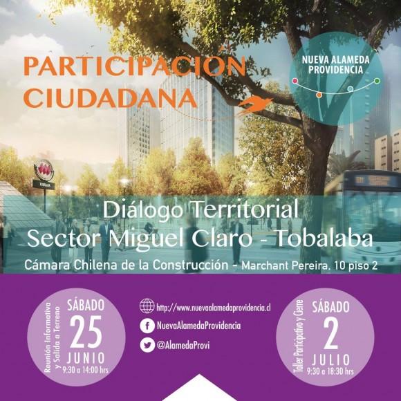 afiche nueva alameda providencia dialogo territorial junio 2016