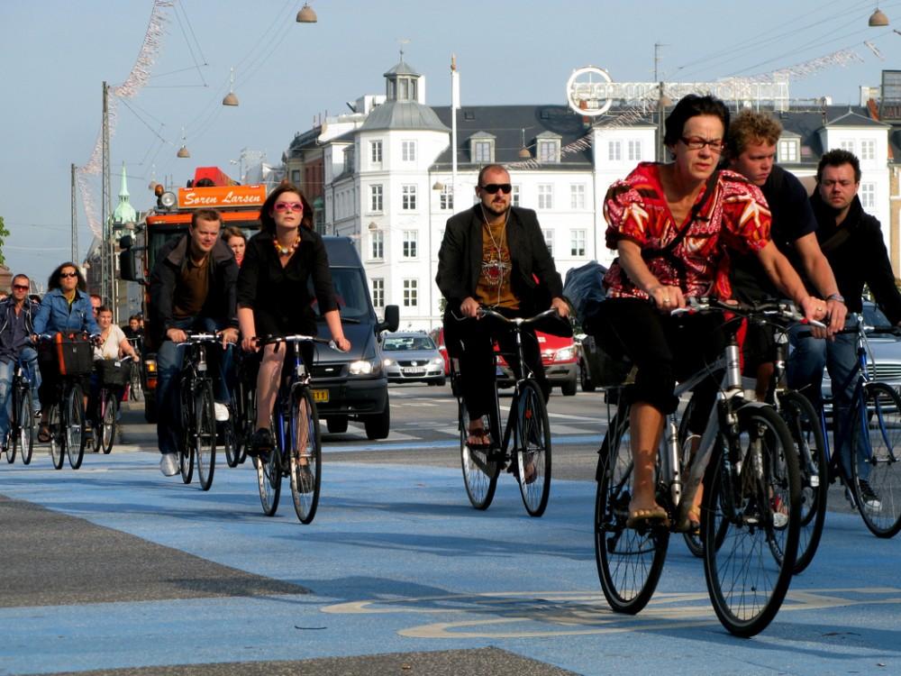 Ciclistas en Copenhague © Flickr Usuario: Mikael Colville-Andersen. Licencia CC BY-NC-ND 2.0