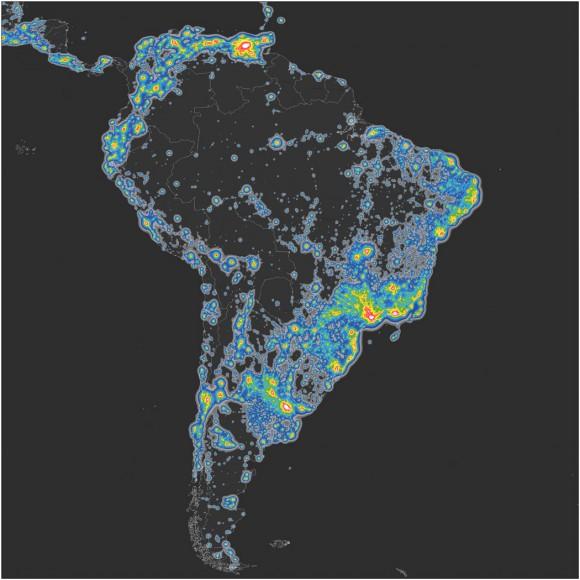 Contaminacion Luminica Sudamerica AAAS