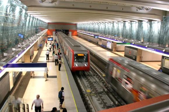 Estación Vicente Valdés, Línea 4, Metro de Santiago. Wikimedia Commons Usuario: Fevarasv. Licencia: CC BY SA 4.0