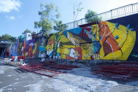 Festival Mural La Puerta del Sur, Santiago. © Plataforma Urbana