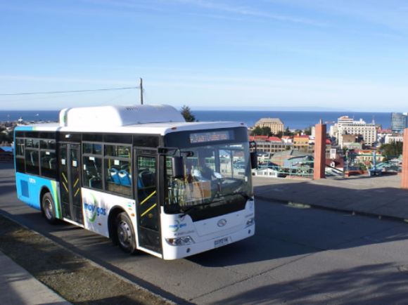 Bus de Movigas en Punta Arenas. © Movigas