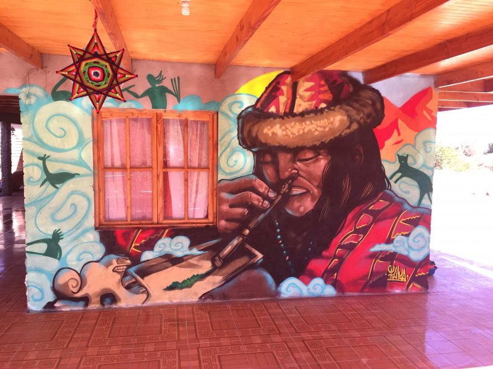 Mural en San Pedro de Atacama. Cortesía Faya E.C.