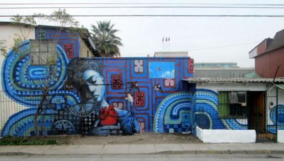 Mural en Calle Inocencia, Recoleta. © Cortesía de Ekeko