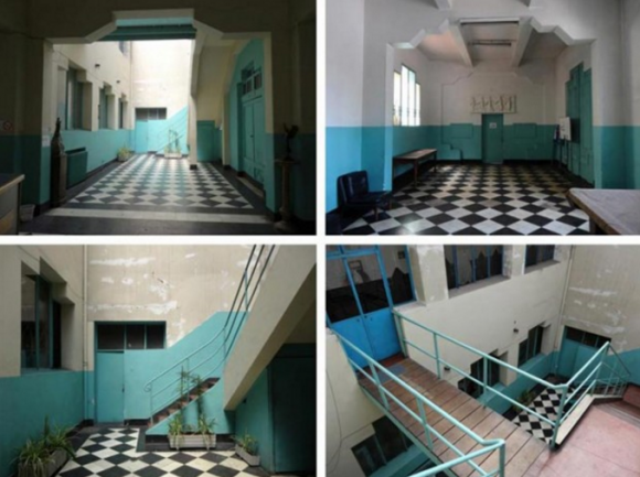 Interior Piscina Escolar. Fuente: Consejo de Monumentos Nacionales