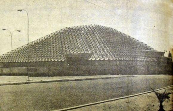 Terminal Rodoviario de Arica en 1976. Cortesía Universidad de Tarapacá