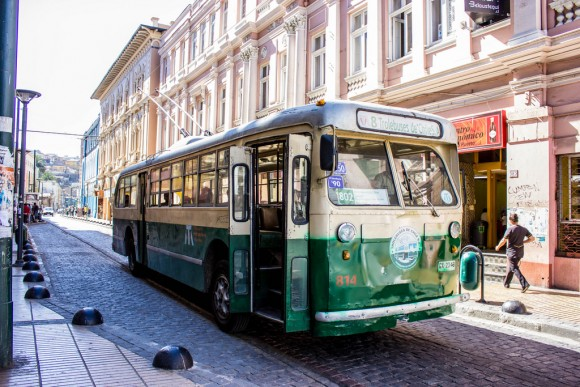 Trolebus, Valparaíso. © Flickr Usuario: Rodrigo Pereira V. Licencia CC BY-NC-ND 2.0