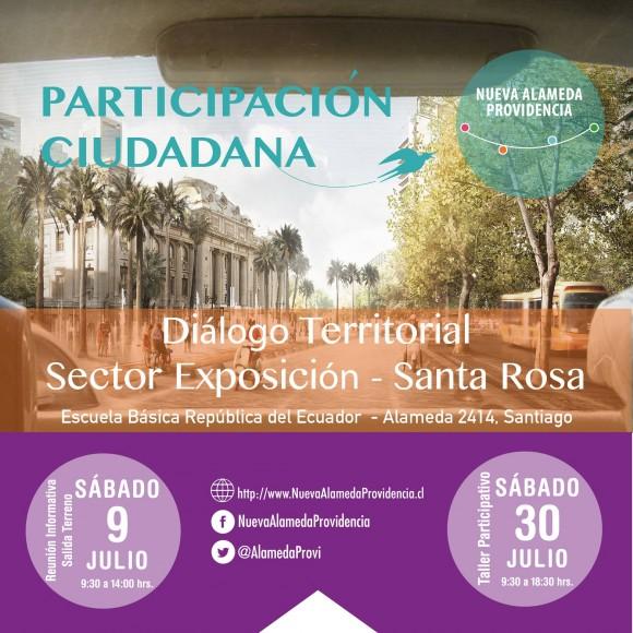 Afiche Dialogo Territorial Nueva Alameda Providencia