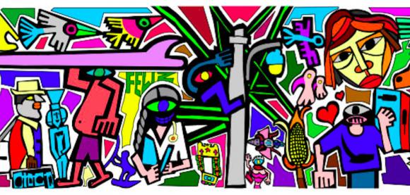 """Mural """"Cambiarnos con Sociedad"""", Centro Cultural GAM. © Cortesía Andrés García"""