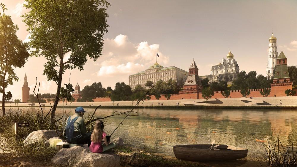 Pesca frente al Kremlin de Moscú. © Cortesía de Project Meganom