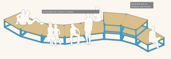 Mobiliario reconfigurable