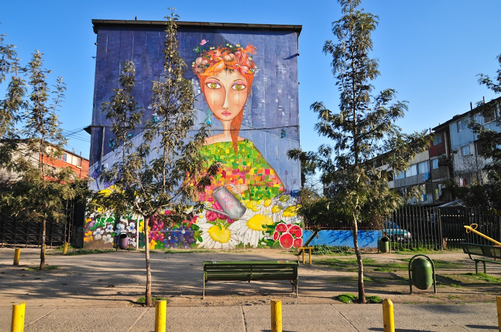 Mural realizado por Crazy's Crew. © Plataforma Urbana