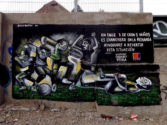 Mural en la carretera de San Bernardo. Cortesía de Minero 34.
