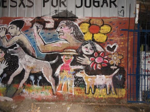 Mural en San Bernardo. Cortesía de Minero 34.
