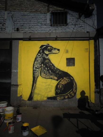 Mural en el taller de Mono González en La Cisterna. Cortesía de Minero 34.