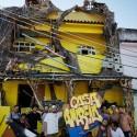 Casa amarilla en la favela Morro da Providencia. Imagen © JR, vía Facebook del artista
