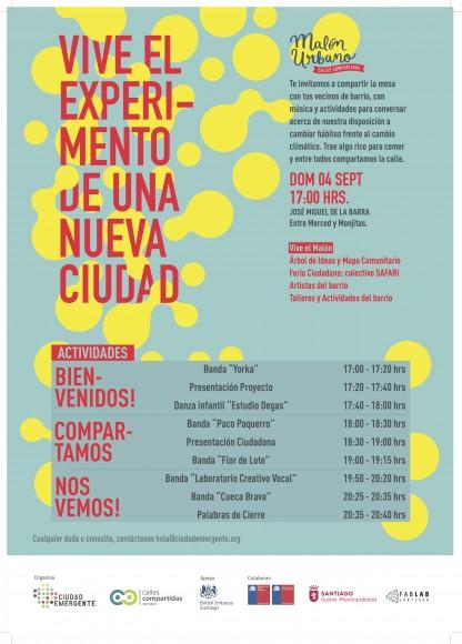 Afiche Calles Compartidas Ciudad Emergente