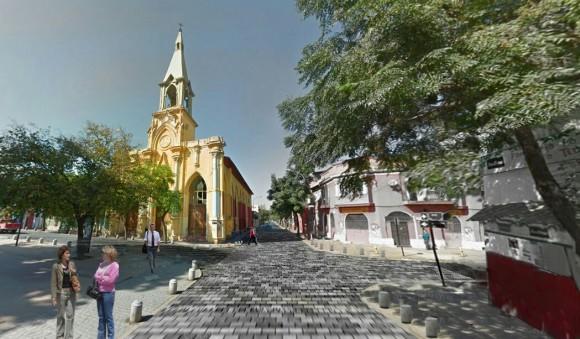 Proyección peatonalización parcial de calle Santo Domingo, Barrio Yungay. © Municipalidad de Santiago