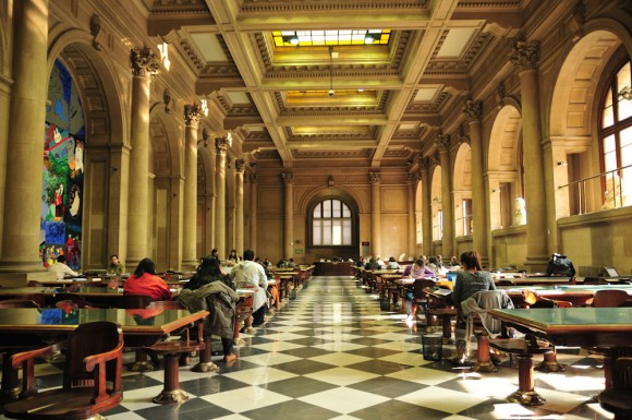 Sala Gabriela Mistral, Bilbioteca Nacional. © Plataforma Urbana