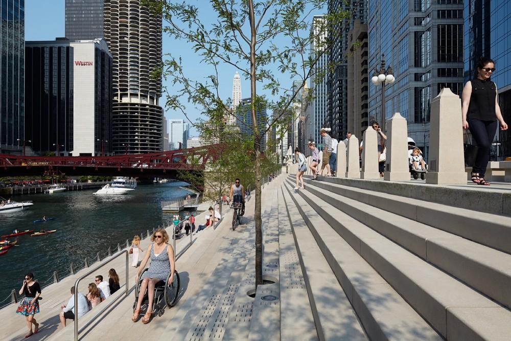 """""""Chicago Riverwalk"""", Chicag, EE.UU. © Kate Joyce Studios"""