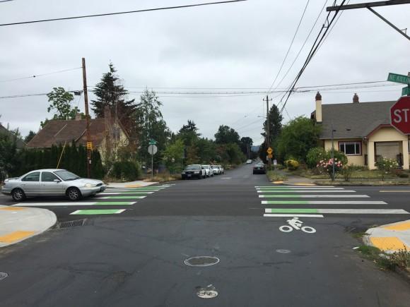 Cruces para ciclistas en Portland, EE.UU. © Flickr Usuario: Bike Portland.