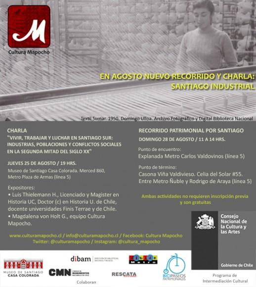 Flyer Santiago Industrial_Cultura Mapocho