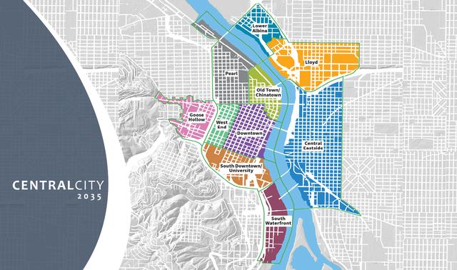 Plan Central City 3035 Portland Fuente The City of Portland