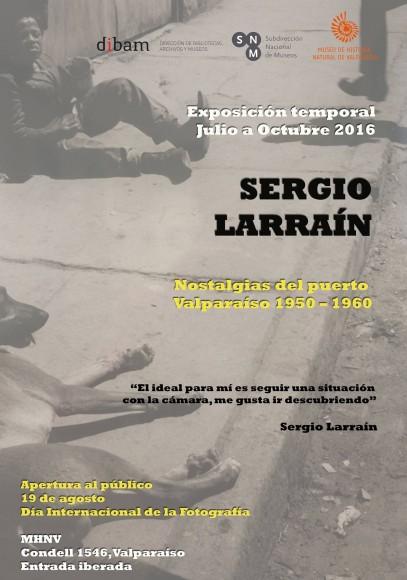 Afiche Sergio Larrain Nostalgias del Puerto MNHN