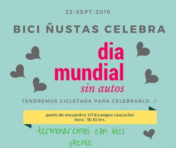 Arica Dia Mundial Sin Autos 2016 Bici Nustas Dia Mundial Sin Autos