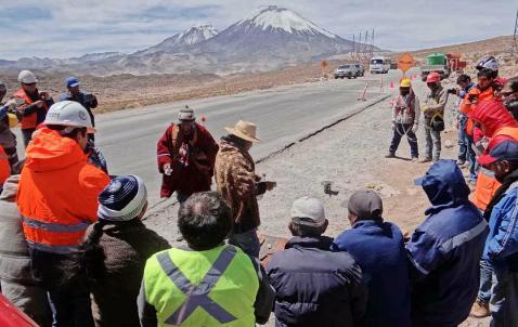 Construccion carretera Region Arica Parinacota