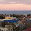 Punta Arenas vista del Estrecho de Magallanes