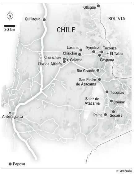 Region de Antofagasta demanda agua potable localidades andinas