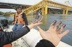 Rio Tolten contaminacion aguas