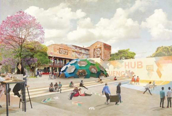 Cuenca HUB / Después. Image Cortesía de Ecosistema Urbano