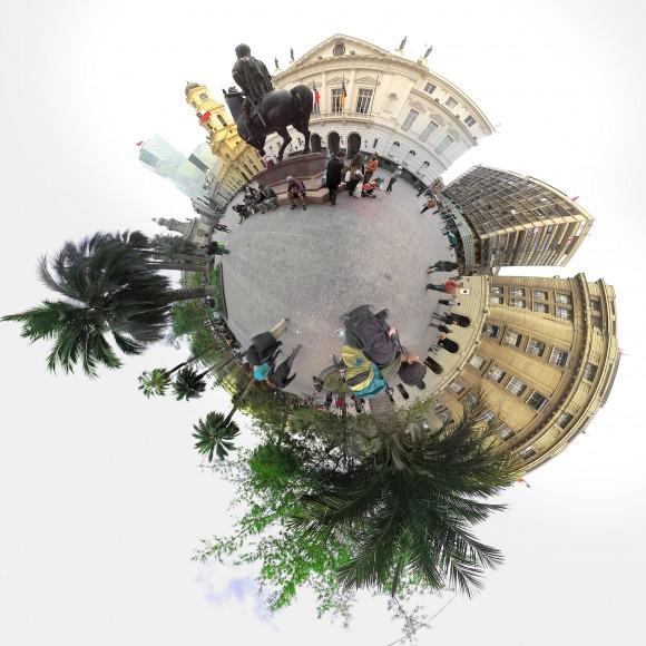 Plaza de Armas de Santiago. © Chile Inmersivo. Cortesía para Plataforma  Urbana
