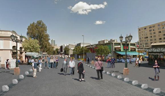 Proyecto para calle Puente Cortesia Municipalidad de Santiago