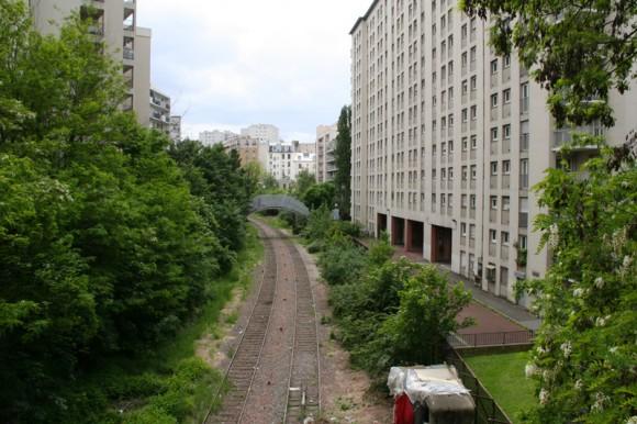 Rue de la Mare Petite Ceinture Ayuntamiento de Paris