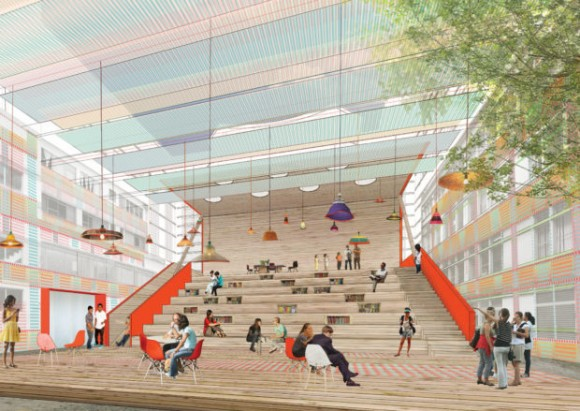 Parqueadero Municipal / Después. Image Cortesía de Ecosistema Urbano